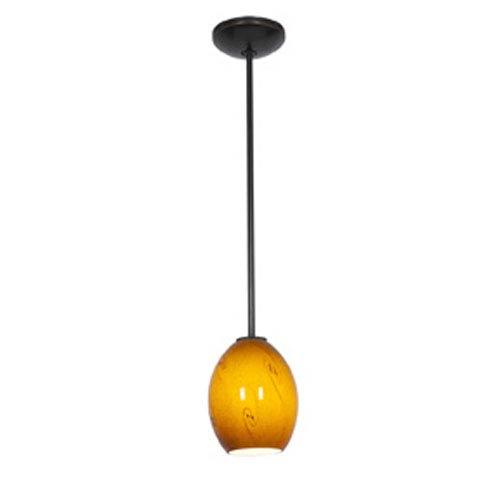 Access Lighting Sydney Ostrich Oil-Rubbed Bronze FireBird Glass Pendant