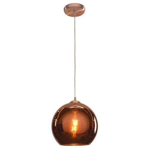 Glow Brushed Copper 10-Inch 1-Light Pendant