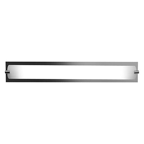 Access Lighting Geneva Chrome Fluorescent One-Light 25-Inch Vanity with Opal Glass