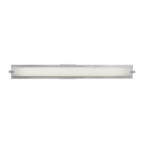 Access Lighting Geneva Brushed Steel One-Light Bath Light with Opal Glass