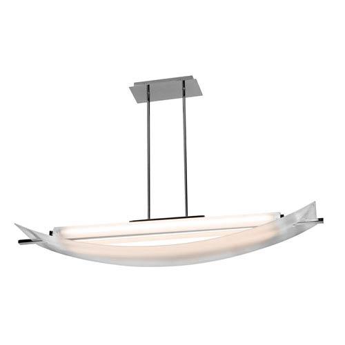 Thesis Chrome One-Light LED Pendant