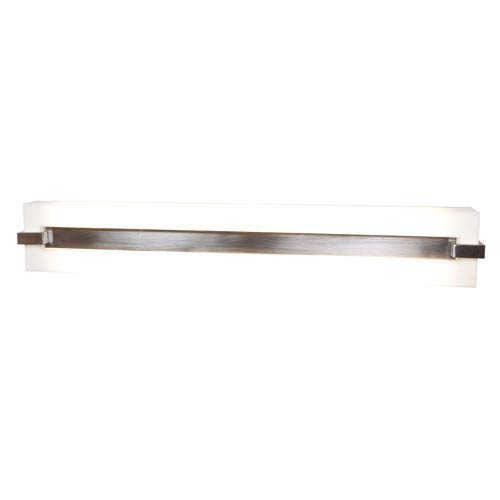 Access Lighting Sierra Brushed Steel Two-Light Bath Light with Acrylic