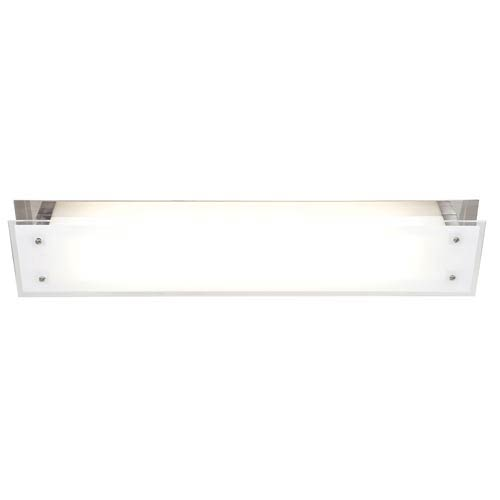 Access Lighting Vision Brushed Steel Two-Light Flush Mount with Frosted Glass