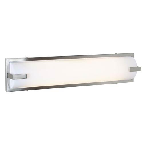 Access Lighting Sequoia Brushed Steel Two-Light Bath Light with Acrylic