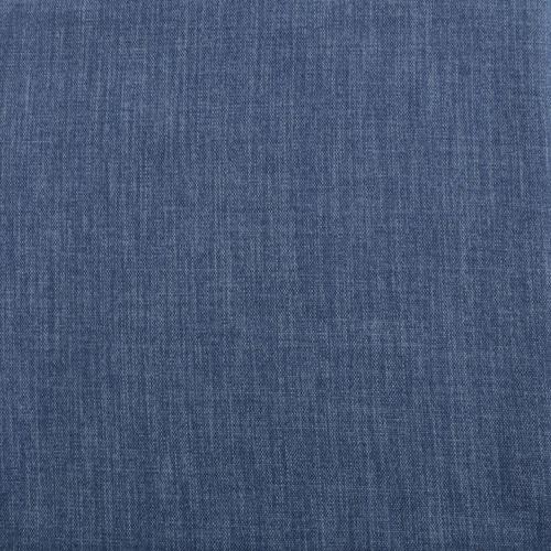 Rose Street Blue Denim Faux Linen Blackout Curtain - SWATCH ONLY