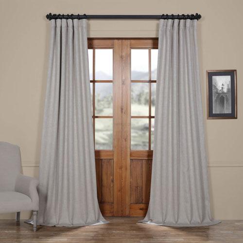 Rose Street Beige Oatmeal 96 x 50 In. Faux Linen Blackout Curtain Single Panel