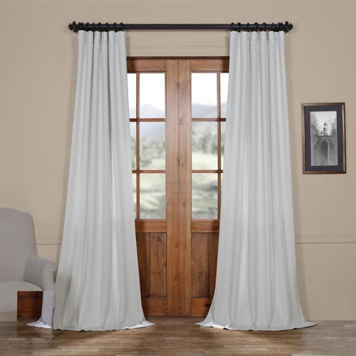 Rose Street Polar Grey 84 x 50 In. Faux Linen Semi Sheer Curtain Single Panel
