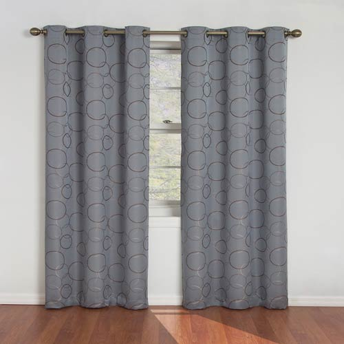 Eclipse Meridian River Blue Blackout Window Curtain Panel