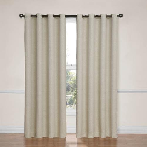 Eclipse Bobbi Ivory 52-Inch x 63-Inch Blackout Window Curtain Panel