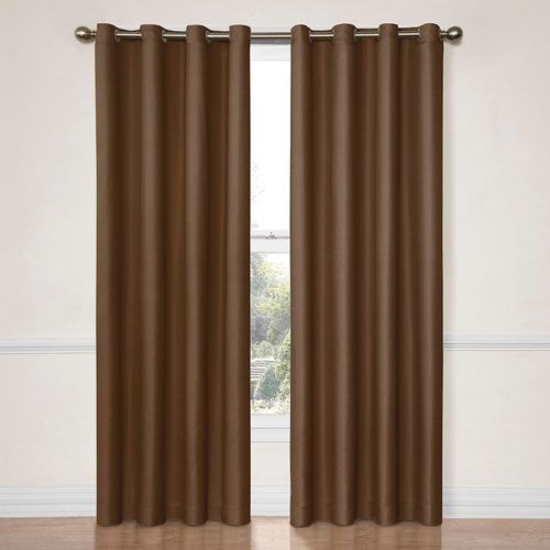 Eclipse Dane Chocolate 52-Inch x 84-Inch Blackout Window Curtain Panel
