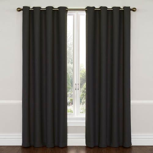 Wyndam Charcoal 52-Inch x 84-Inch Blackout Window Curtain Panel