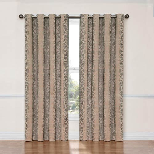 Eclipse Nadya Linen 52-Inch x 84-Inch Blackout Window Curtain Panel