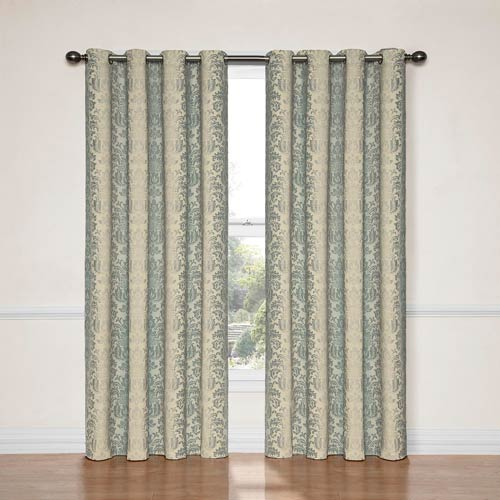 Nadya Smokey Blue 52-Inch x 84-Inch Blackout Window Curtain Panel