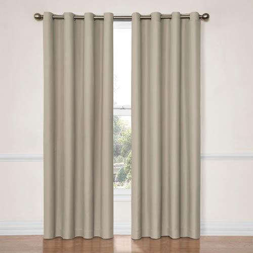 Eclipse Dane String 52-Inch x 84-Inch Blackout Window Curtain Panel