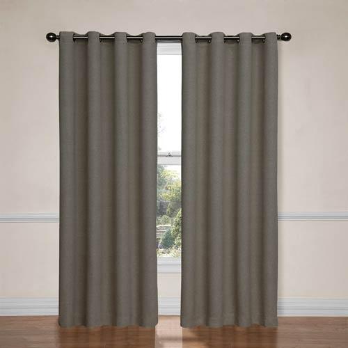 Eclipse Bobbi Pewter 52-Inch x 95-Inch Blackout Window Curtain Panel