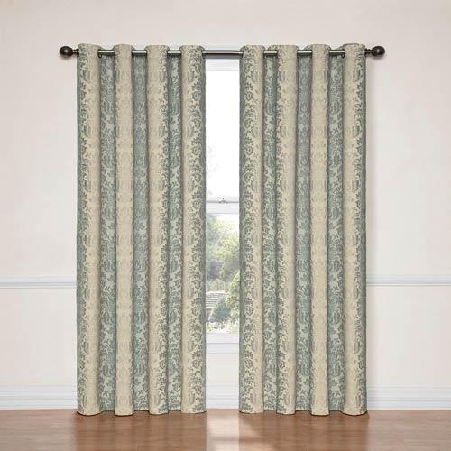 Eclipse Nadya Smokey Blue 52-Inch x 95-Inch Blackout Window Curtain Panel