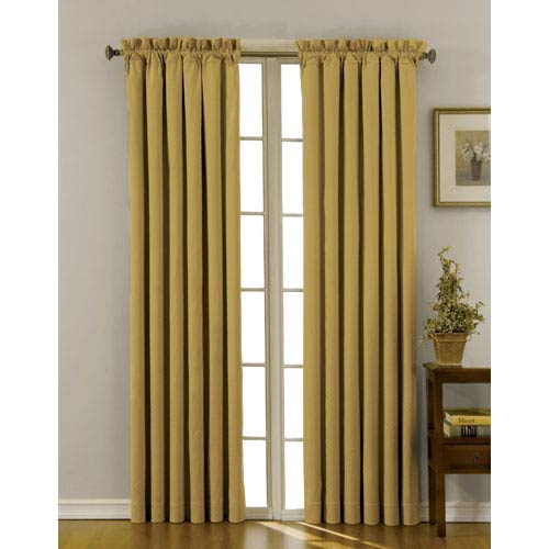 Eclipse Canova Gold 42-Inch x 84-Inch Blackout Window Curtain Panel