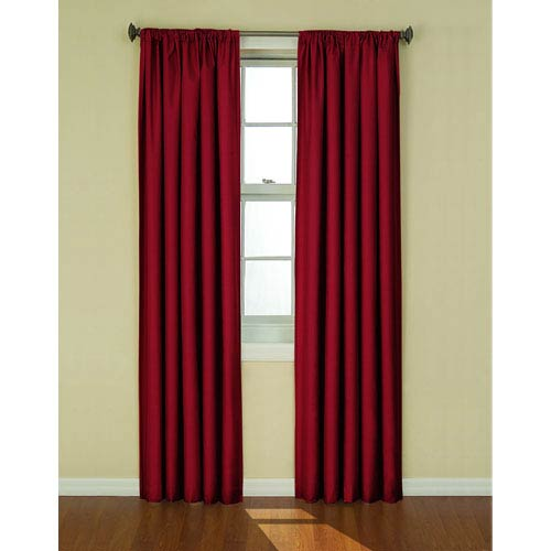 Eclipse Kendall Ruby 42-Inch x 84-Inch Blackout Window Curtain Panel