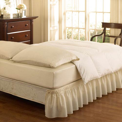 Ivory Queen/King Wrap Around Solid Ruffled Bedskirt