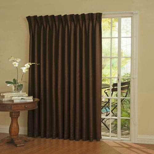 Patio Door Espresso Thermal Blackout Curtain Panel