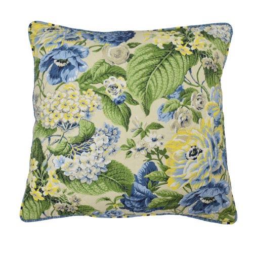Waverly Floral Flourish Porcelain 20-Inch Decorative Pillow