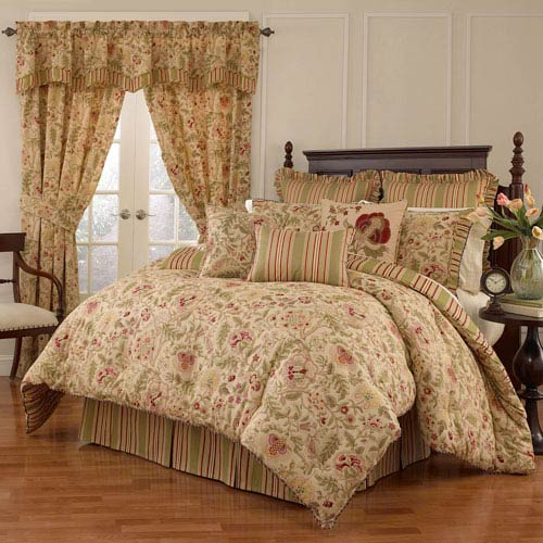 Waverly Imperial Dress Antique Four-Piece Queen Comforter Set