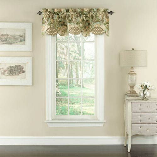 Waverly Garden Glory Scalloped 60 X 16 Inch Floral Valance