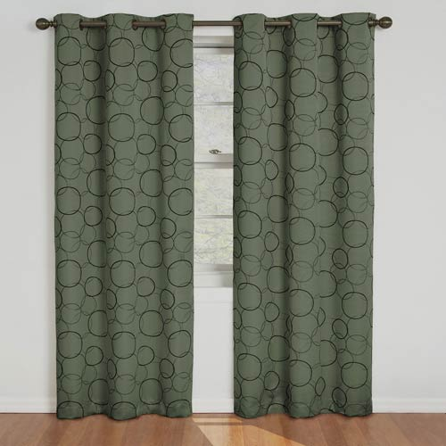 Eclipse Meridian Sage Blackout Window Curtain Panel