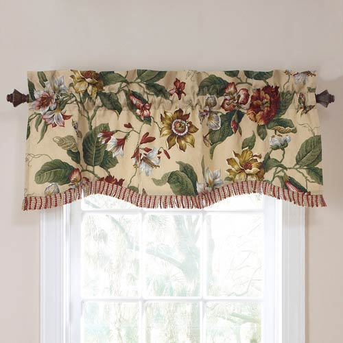 Laurel Springs Parchment Lined Window Valance