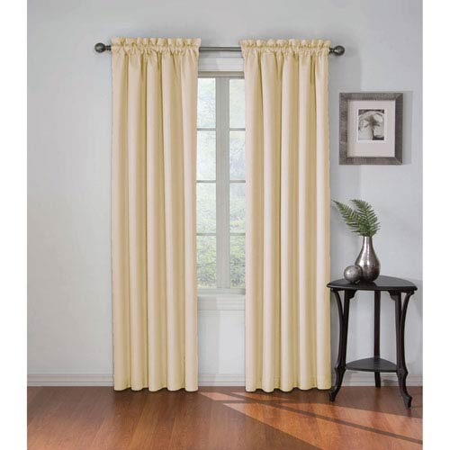 Corinne 84 x 42-Inch Ivory Blackout Window Curtain Panel