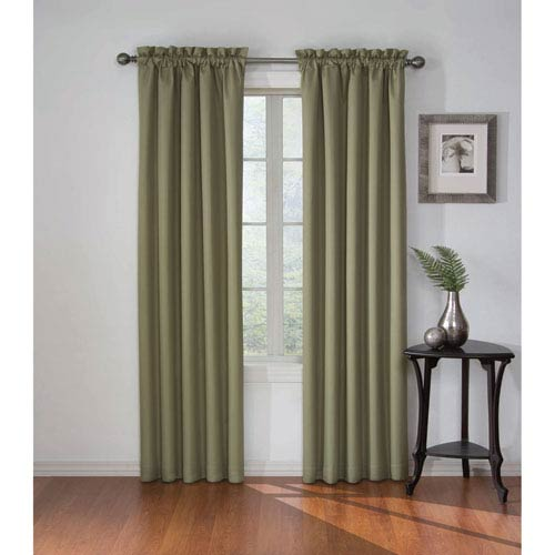 Corinne 84 x 42-Inch Olive Blackout Window Curtain Panel