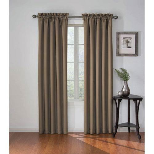 Corinne 95 x 42-Inch Mushroom Blackout Window Curtain Panel