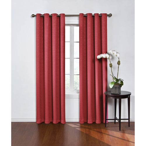 Round and Round 95 x 52-Inch Wine Blackout Window Curtain Panel