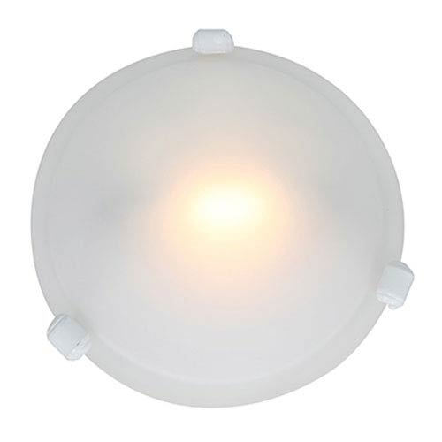 Access Lighting Nimbus White One-Light Flush Mount with Frosted Glass