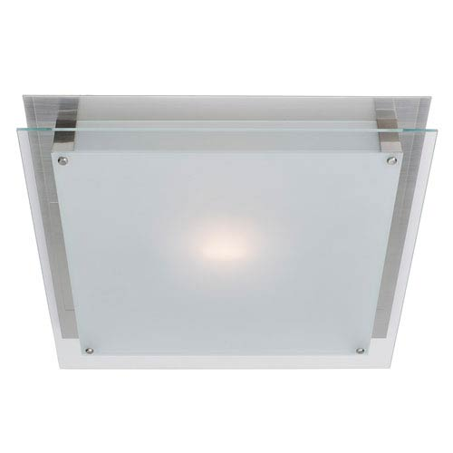 Vision Brushed Steel One-Light Small Flush Mount