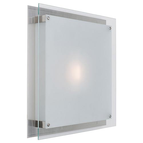 Access Lighting Vision Brushed Steel Wall/Ceiling Flush Mount