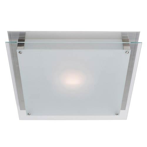 Vision Brushed Steel 12-Inch Wide LED Flush Mount