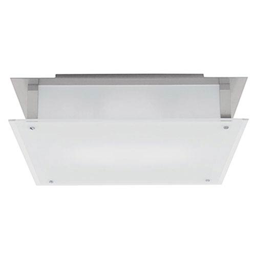 Access Lighting Vision Brushed Steel 18-Inch LED Flush Mount with Frosted Glass