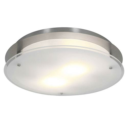VisionRound Brushed Steel One-Light Large Flush or Wall Mount
