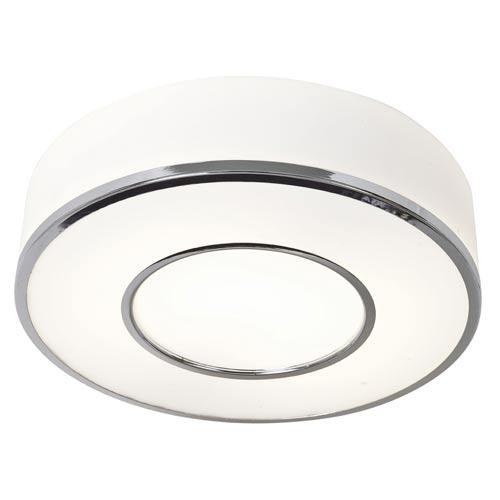 Access Lighting Aero Polished Chrome One-Light Flush Mount with Opal Glass