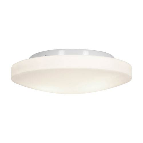 White Three-Light 13-Inch Flush Mount with Opal Glass