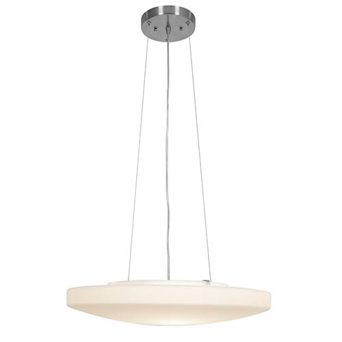 Orion Brushed Steel 19-Inch Wide LED Bowl Pendant