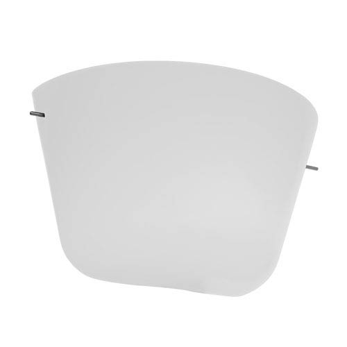 Aire Chrome One-Light 12-Inch Wall Sconce with Opal Glass