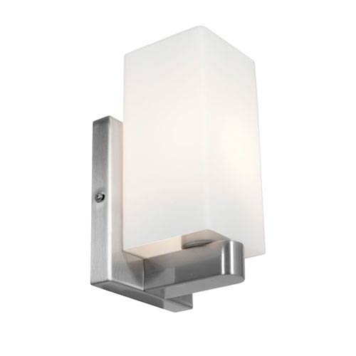 Access Lighting Archi Brushed Steel One-Light Vanity with Opal Glass