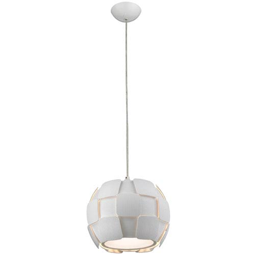 Layers White Four-Light 11-Inch Pendant