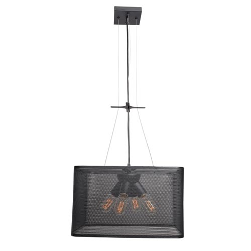 Access Lighting Epic Black 16-Inch Four-Light Square Pendant
