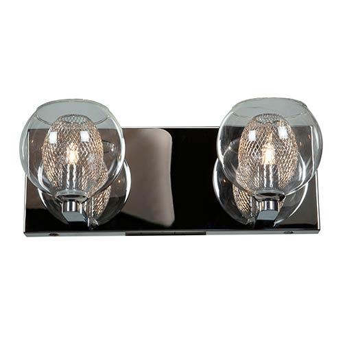 Access Lighting Aeria Chrome Two-Light 12.5-Inch Wide Bath Vanity Fixture