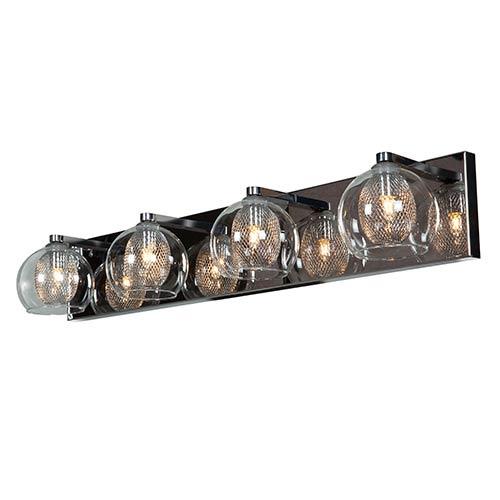 Access Lighting Aeria Chrome Four-Light 28.5-Inch Wide Bath Vanity Fixture