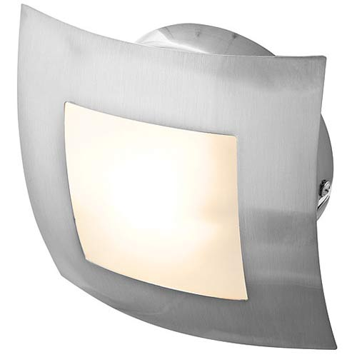 Argon Brushed Steel Wall or Ceiling Fixture