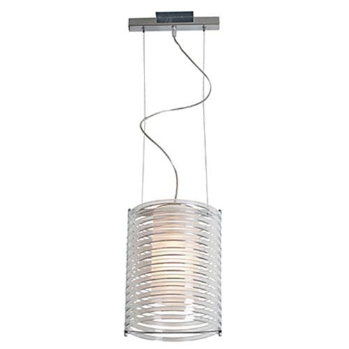 Enzo Chrome One-Light 10-Inch Pendant with Clear Acrylic Shade